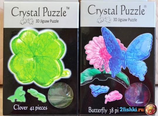 3d crystal puzzle бабочка 38 детали и клевер