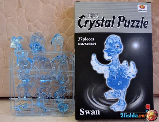 Как Собрать 3D Crystal Puzzle Лебедь Пошаговая Инструкция